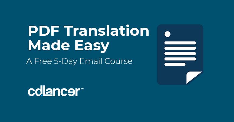 Free PDF Translation Course_cdlancer