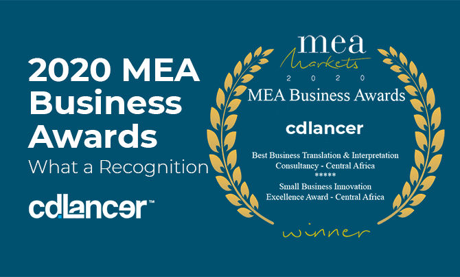 2020 MEA Awards for Best African Business to cdlancer