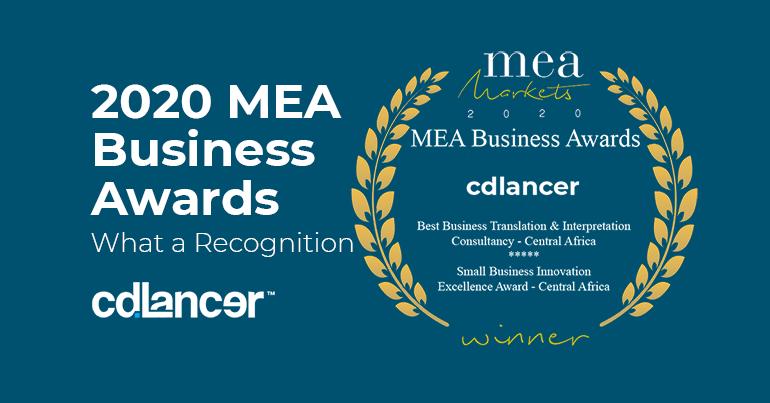 2020 MEA Awards for Best African Business to cdlancer